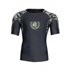 Cypress Rashguard Short Sleeves - Army Green Camo