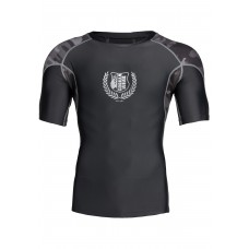 Cypress Rashguard Short Sleeves - Black/Gray Camo