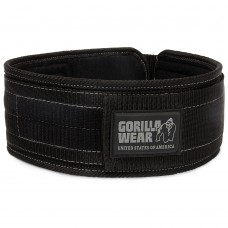 Gorilla Wear 4 Inch Nylon Belt - Black